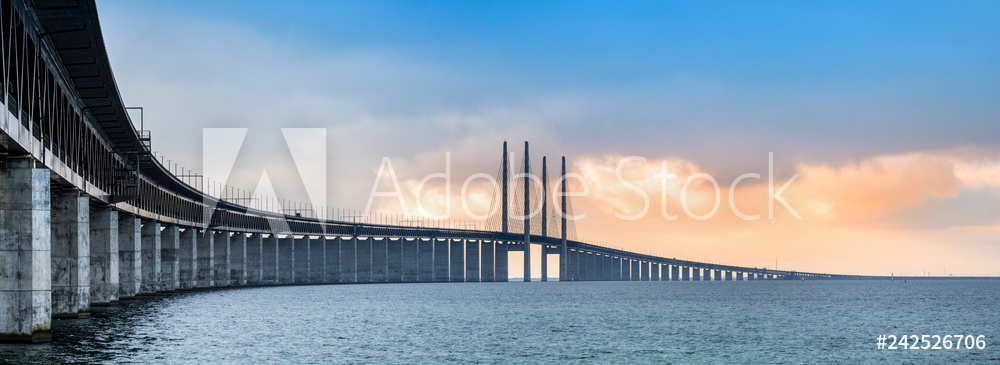 The Oresund bridge panorama