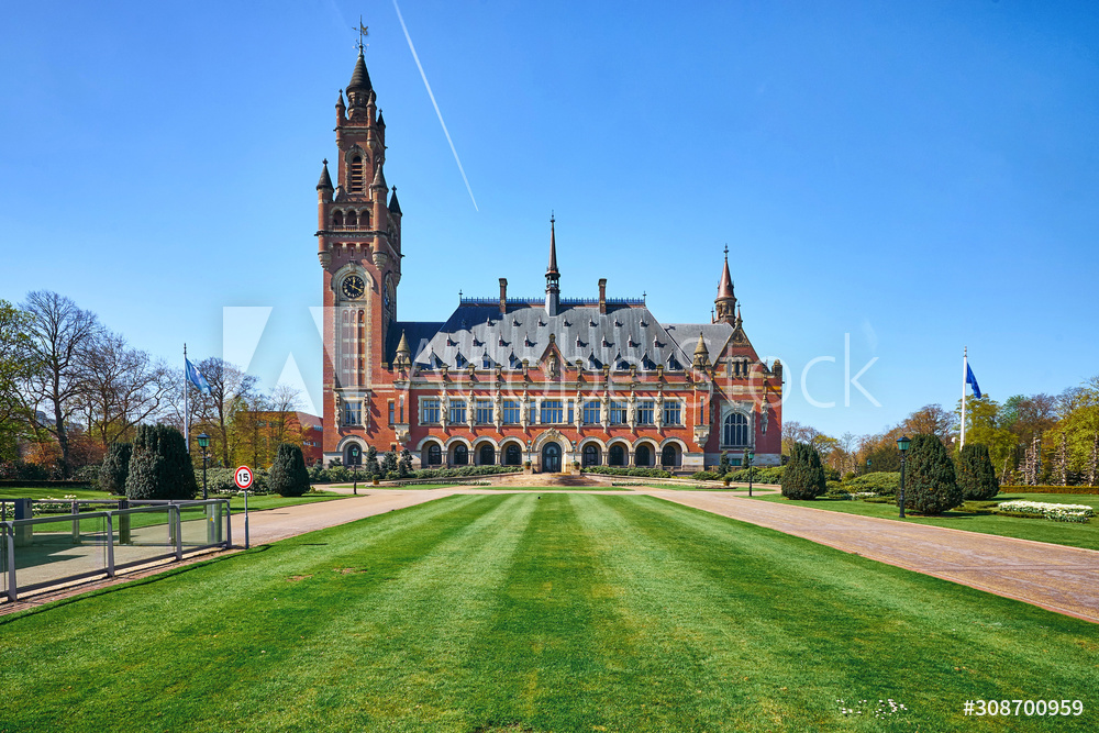 The Peace Palace building of the international Court of Justice in the Hague city
