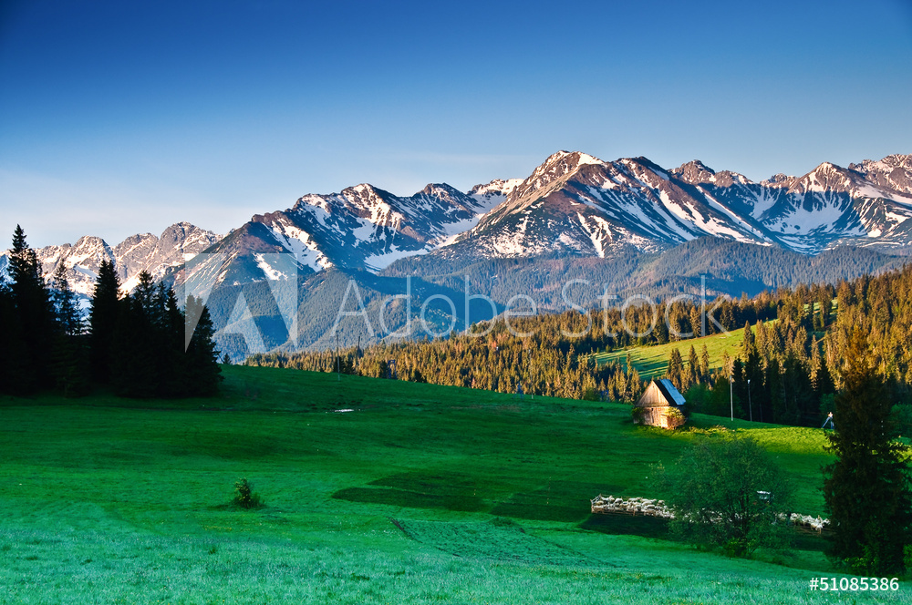 Polish Tatra mountains panoram in the morning