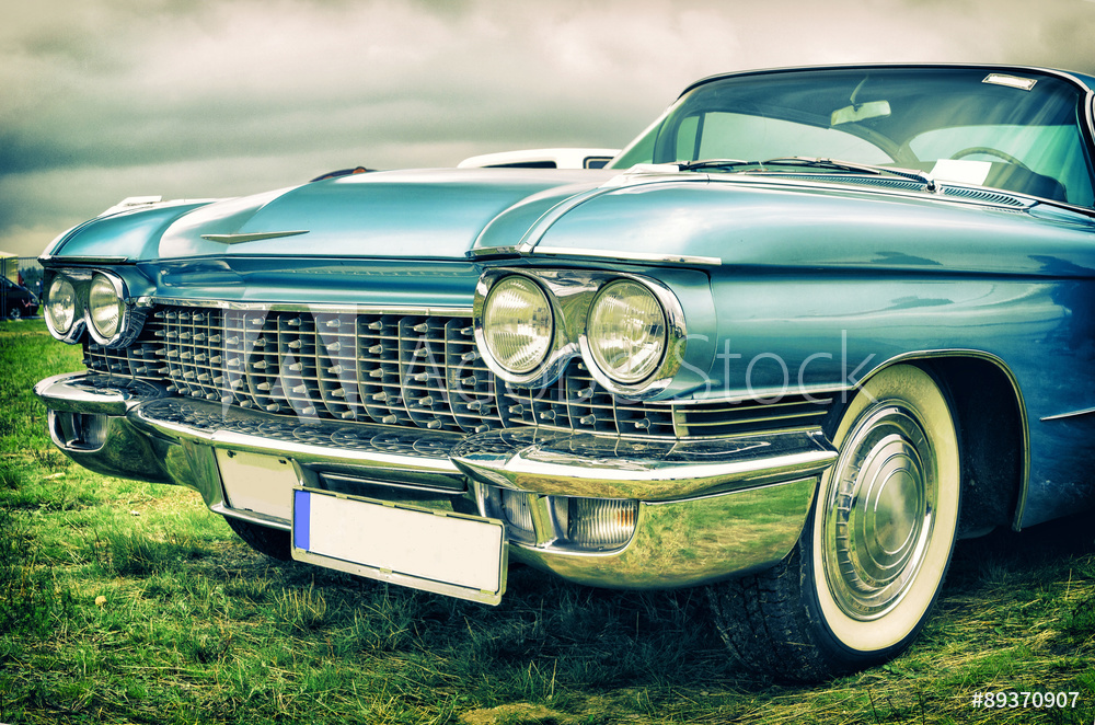 old american car in vintage style